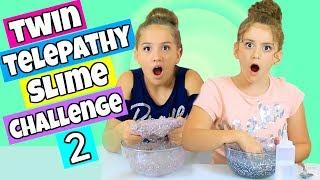 Twin Telepathy Slime Challenge Part 2 * Glitter Slime!