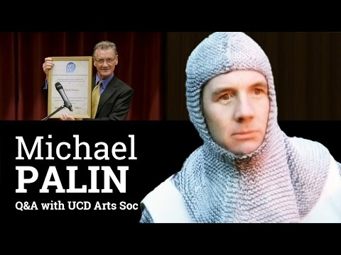 Michael Palin (Python and travel documentarian) Q&A with students in Dublin