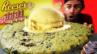 THE WORLDS LARGEST PIZOOKIE CHALLENGE! (20,000+ CALORIES)