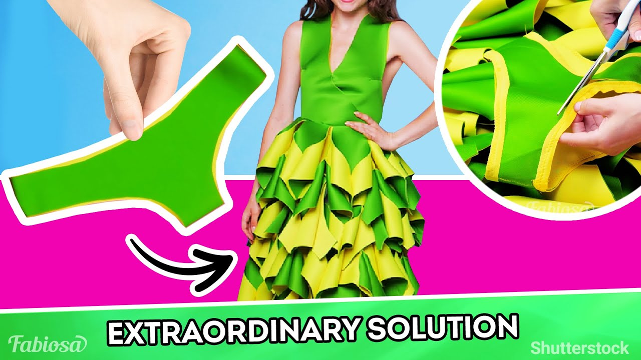Shocking clothing makeover! Turn underwear into a fab dress