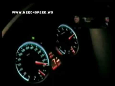 The new BMW M6 doing an honest 340 km/hr. The car