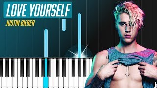 justin bieber love yourself piano tutorial chords how to play cover