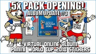 ⚽ PACKS & SWAPPING !!   Panini FIFA WORLD CUP 2018 STICKER ALBUM  ⚽ VIRTUAL ONLINE!