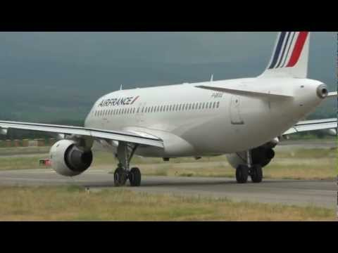 Touch and go A320 Air France at Perpignan
