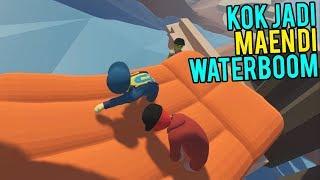 Download Video NGAKAK! MAEN DI WATERBOOM WKWK - Human Fall Flat #3 MP3 3GP MP4