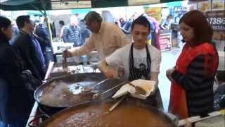 Fresh Tandoori Clay Oven Naan wraps at Indian Seasoning Street Food stall - Alchemy Festival, London