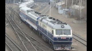 [China Railway]T310 Leaving from Qiqihar 2階建て特快T310列車チチハル発車