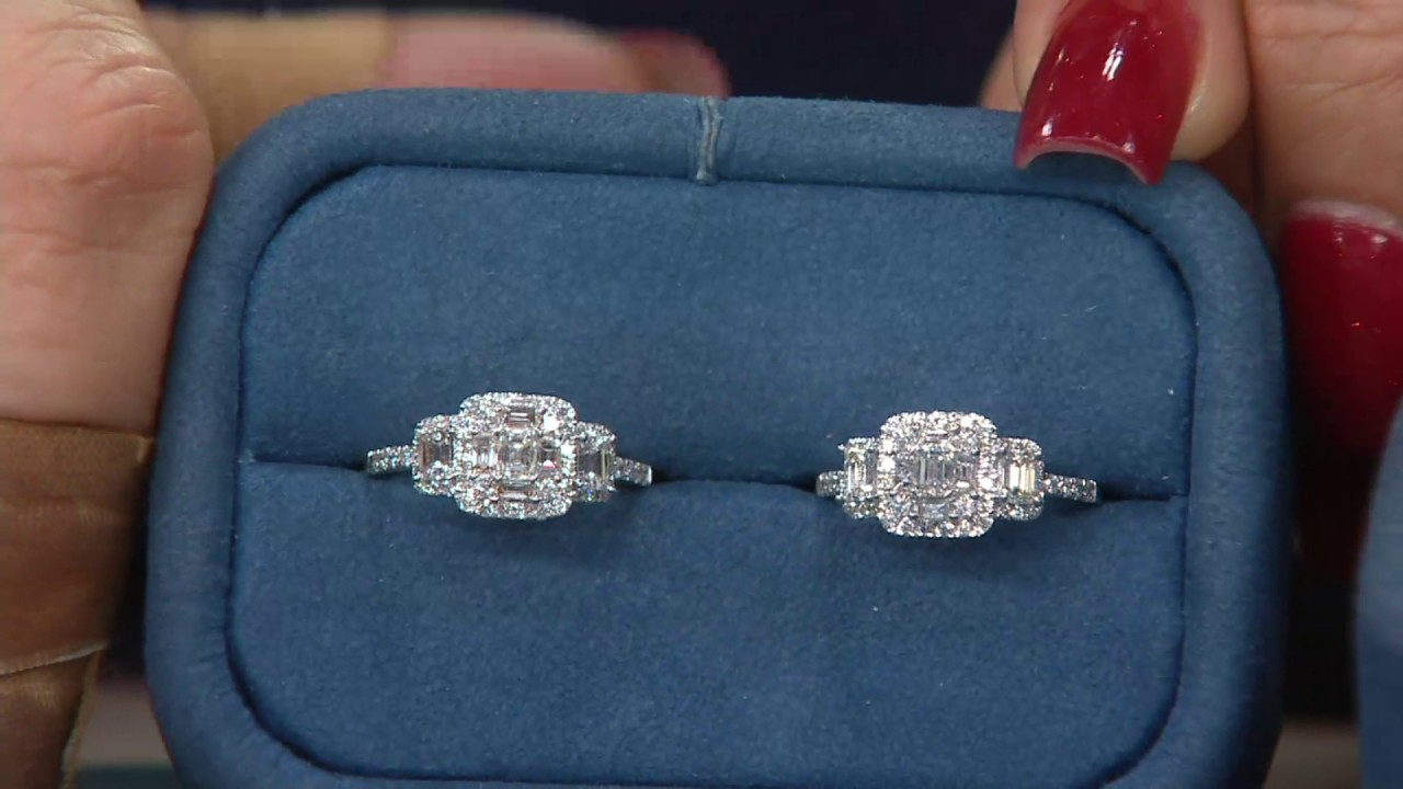 Affinity Diamond Holiday Rings 14k Gold 1 00 Cttw On Qvc Youtube