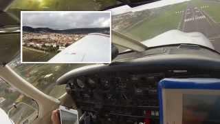 Aterrizaje Tenerife Norte vista desde la cabina