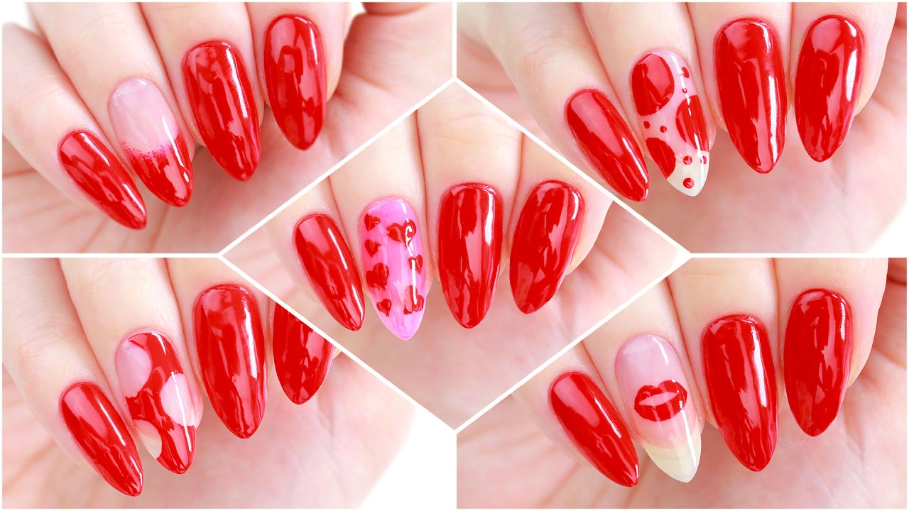 5 Nail Art Designs Using ONLY 1 NAIL POLISH! - YouTube