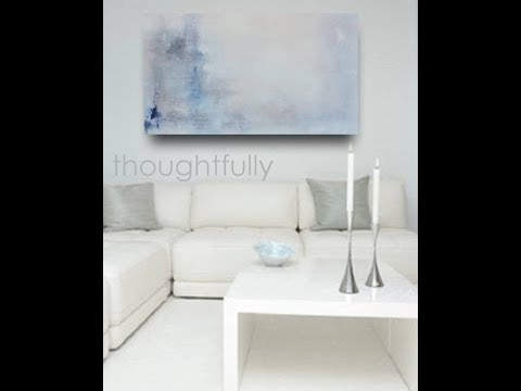 ETSY ART: Abstract Original Art Painting - Large Textured Modern Abstract Blues, Greys on Canvas