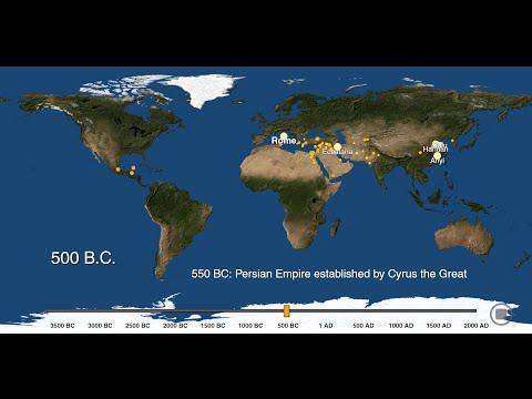 Visualizing the History of World Urbanization, 3700 BC to 2000 AD