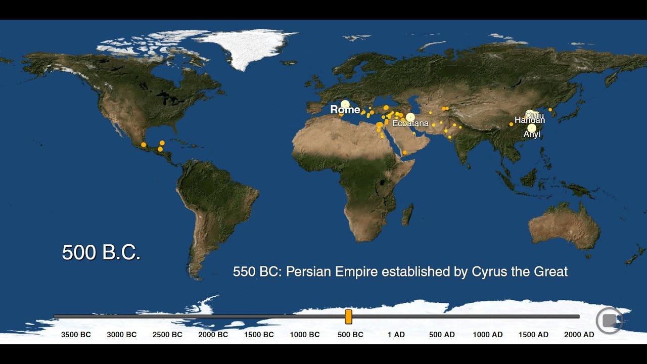 Visualizing The History Of World Urbanization 3700 Bc To 2000 Ad