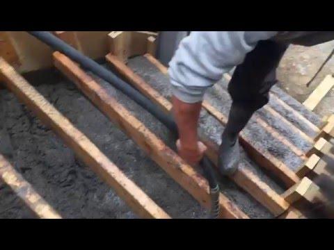 Pouring a set of concrete steps