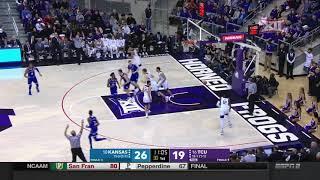 Kansas at TCU Men's Basketball Highlights
