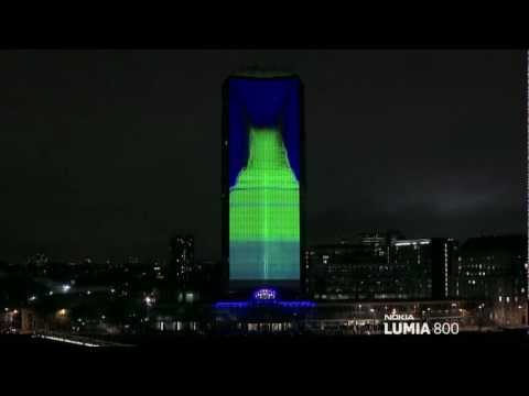 Nokia Lumia Live ft deadmau5 lights up London with amazing 4D projection 1080p.mp4