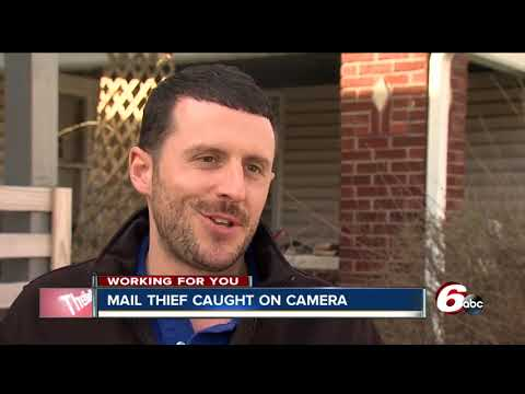 Surveillance video captures woman stealing mail from Indy neighborhood