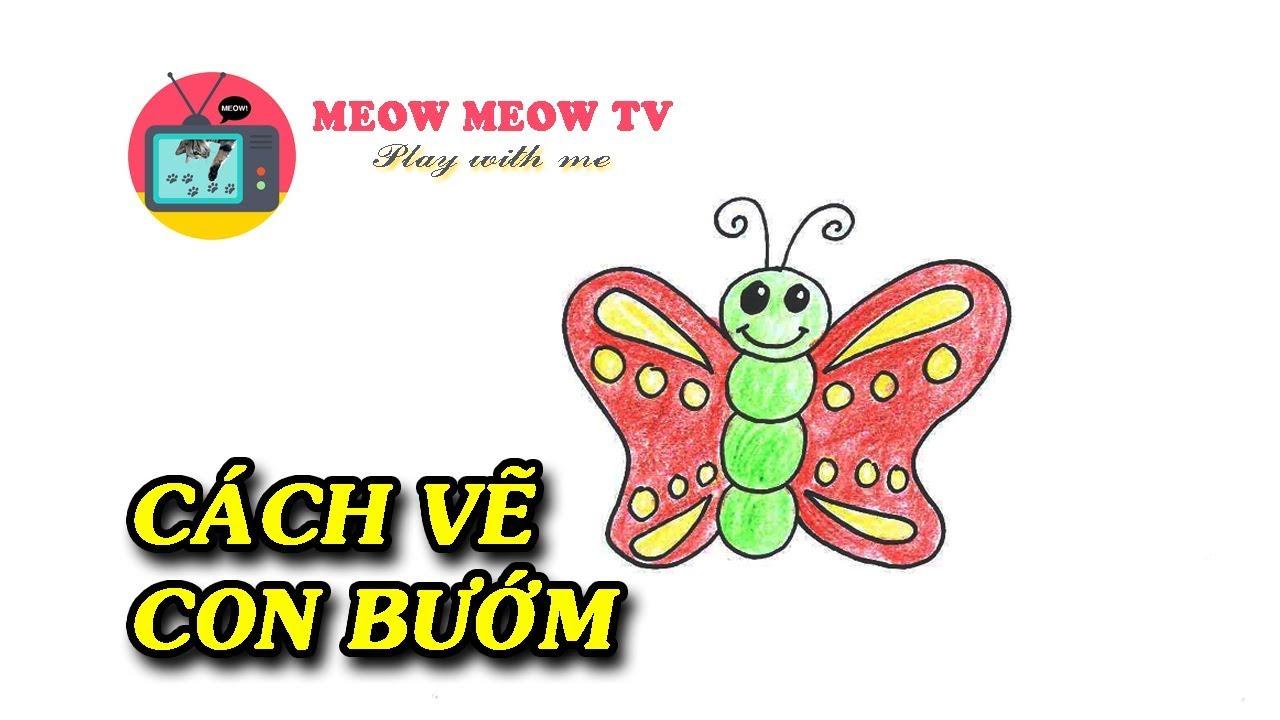 [MEOW MEOW TV] Cách vẽ con bướm cực đơn giản – 나비 그리기