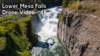 Lower Mesa Falls Drone Video - 4K