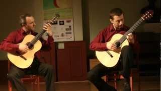 GuitArt Duo plays Joseph Haydn - Divertimento  Hob. XVI:10, 1. mov. - Allegro