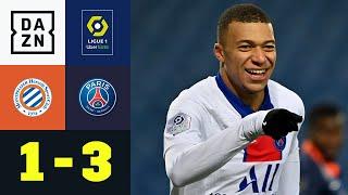 PSG verteidigt Spitzenpositon: Montpellier - PSG 1:3 | Ligue 1 | DAZN Highlights
