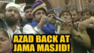 Bhim Army Chief back at Jama Masjid again, reads Preamble to the Constitution | Oneindia