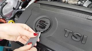 SEAT Leon CUPRA 300 - engine cover - logo VW