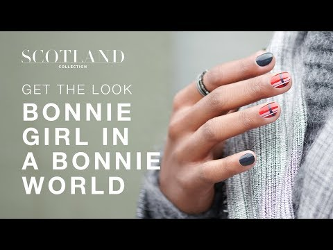 A Very Pretty DIY Nail Art Inspired by Scottish Tartan Design