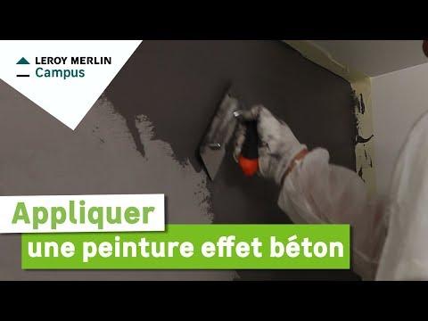 Comment Appliquer Une Peinture Effet Béton Leroy Merlin