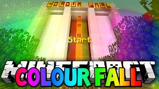 Minecraft Colour Fall Challenge! (Minecraft 1.8 Colour Fall Mini-Game) w/ Lachlan