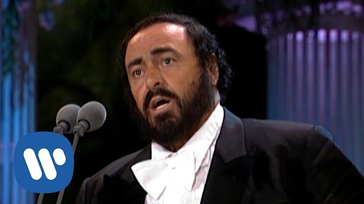 luciano pavarotti sings nessun dorma from turandot the three tenors in concert 1994
