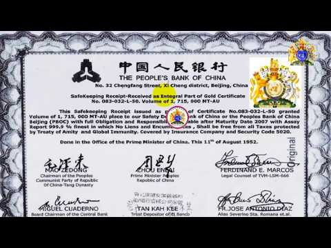 1952 Peoples Bank of China 1,715,000 MTOS GOLD SKR