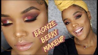 BRONZE BERRY MAKEUP | Ellarie