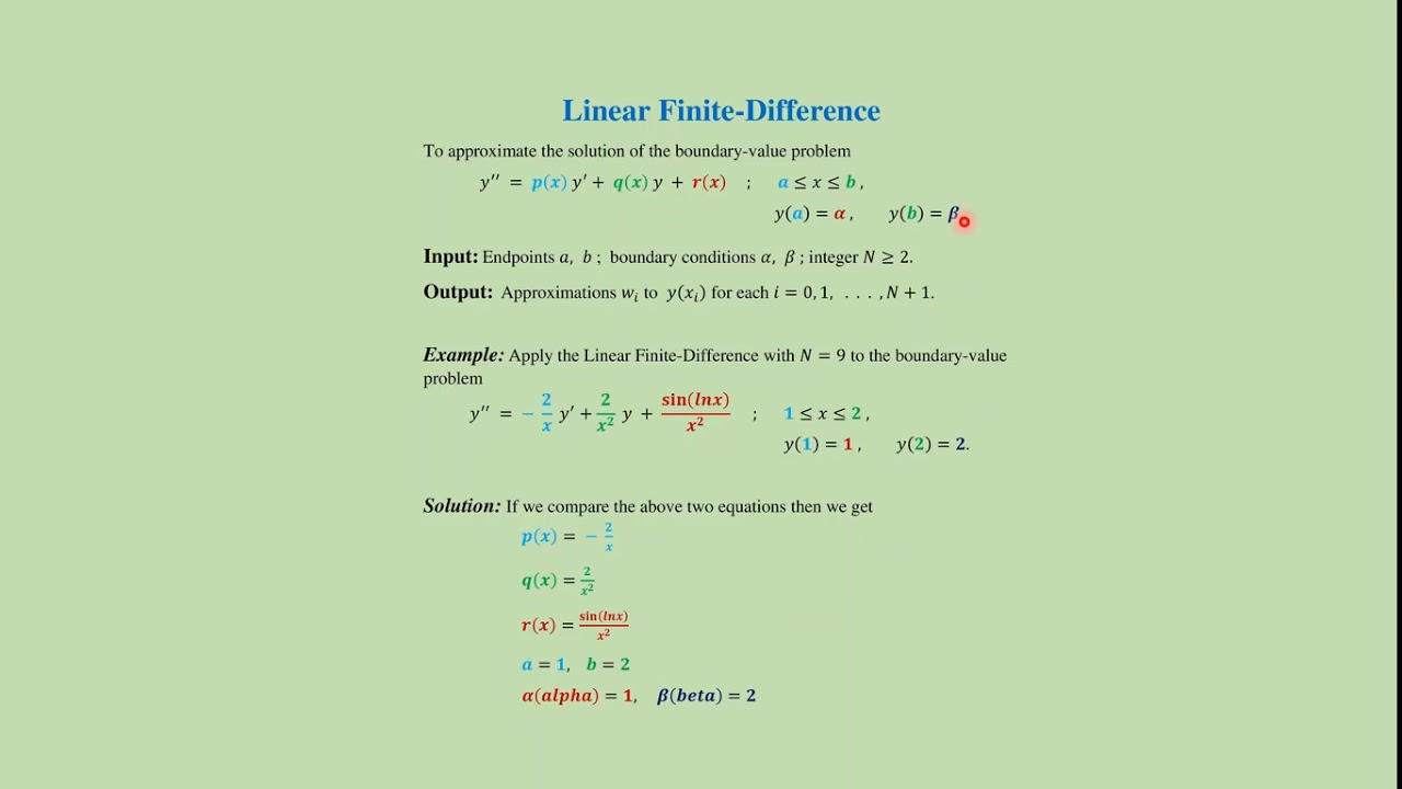Finite difference method: MatLab code + download link