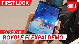 CES 2019: Royole FlexPai Demo | Digit.in
