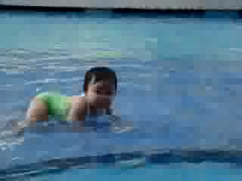 Baby In Swimming Pool Youtube