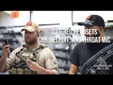 CodeRed Airsoft Headsets CQB, Recruit, and Throat Mic - AirSplat On Demand