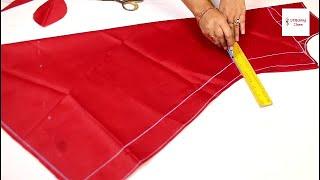 Umbrella dress 2 मीटर कपड़े में बिना जोड़ के Umbrella cut kurti cutting and stitching, Gown Cutting