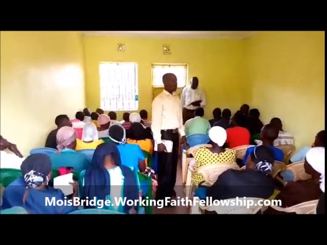 Brother Tobias Exhorting the Fellowship in Mois Bridge Kenya