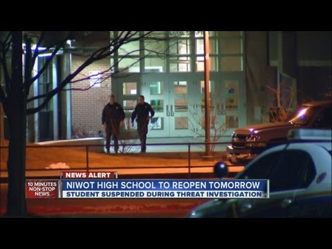Niwot High School student suspended; threat probe continues