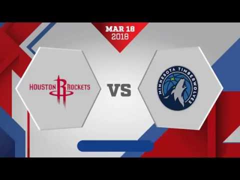 Houston Rockets vs. Minnesota Timberwolves - March 18, 2018