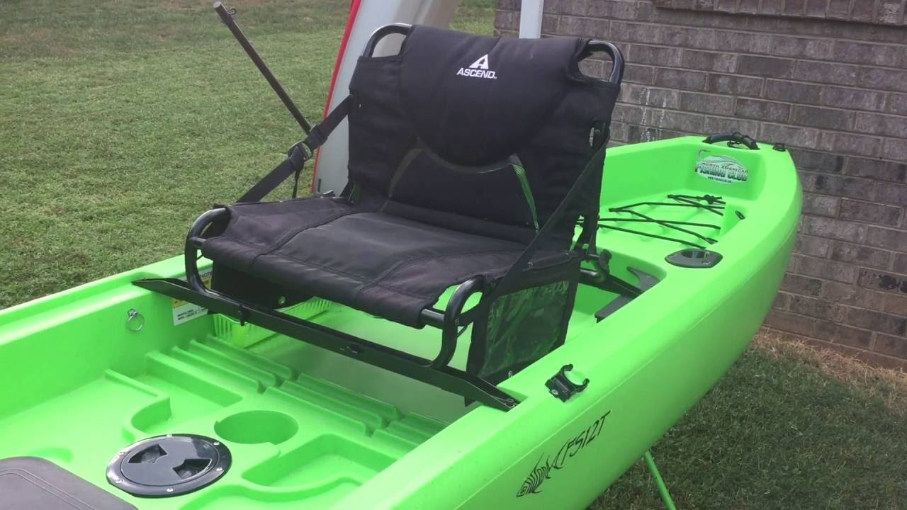 Ascend fs12t seat raise with gear pouches youtube for Ascend fs12t fishing kayak