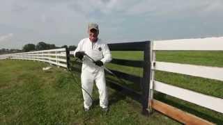 Kentucky Horse Park fences painted black
