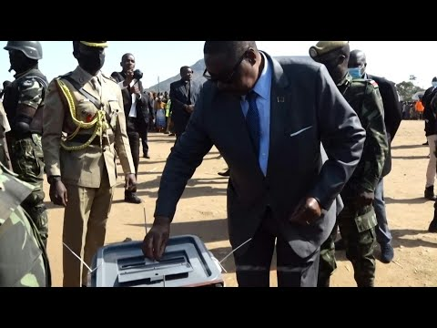 Malawi's President Mutharika Votes In Election Re-run | AFP