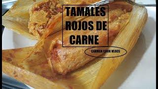 TAMALES DE CERDO CON SALSA ROJA | Carmen Cook vloigs