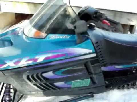 1997 polaris xlt 2 up snowmobile
