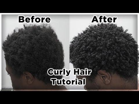 men's-curly-hair-tutorial- -defined-curls-on-4b/4c-hair- -king-infinity