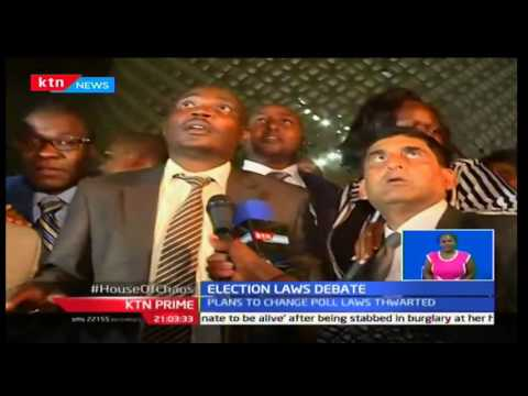 KTN Prime: Members of Parliament inclined to the CORD Coalition defeat the election law debate