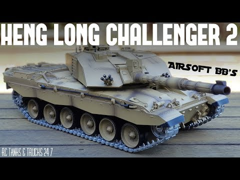 Heng Long Challenger 2 1/16 RC Tank - AIRSOFT BB'S And Metal Tracks - Full Review