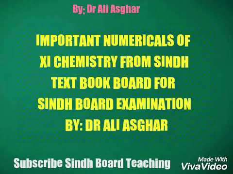 Important Numericals of XI Chemistry 2018